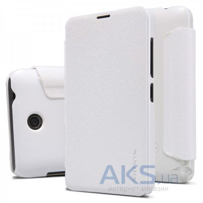 Чехол Nillkin Sparkle Leather Series Nokia Lumia 430 White