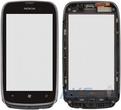 Сенсор (тачскрин) для Nokia Lumia 610 with frame Original Black