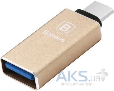 OTG переходник Baseus Sharp series Type-C USB 3.1 to USB 3.0 Gold