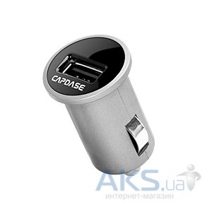 Capdase USB Car Charger Pico White (1 A) for iPhone/iPod/iPad mini/Smartphone (CAII-0M02) Black