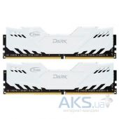 Оперативная память Team DDR3 16GB (2x8GB) 1600 MHz Dark Series White (TDWED316G1600HC9DC01)