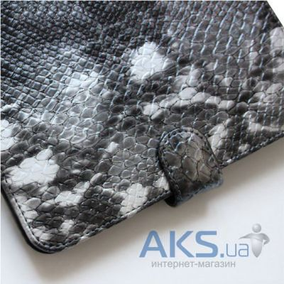 Обложка (чехол) Saxon Case для PocketBook Touch 622/623/624/626/614/660 Snake Silver