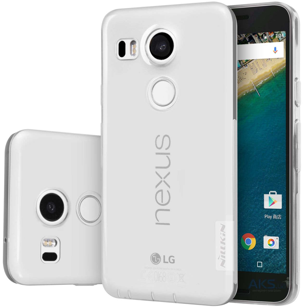 Чехол Nillkin Nature Series LG Google Nexus 5x H791 Transparent