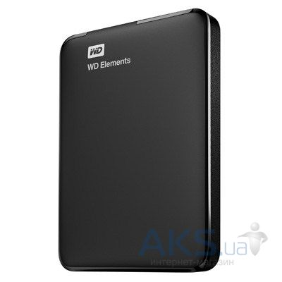 "Жесткий диск внешний Western Digital 2.5"" 1 TB Elements Portable (WDBUZG0010BBK-EESN) Black"