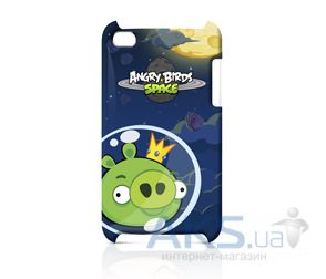 Чехoл Angry Birds Protective Case Space King Pig Green for iPod touch 4G