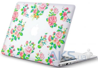 Чехол Kuzy Vintage Flower Case for MacBook Air 13 White