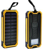 Внешний аккумулятор power bank MANGO Solar LED 2USB 15000 mAh Black-yellow