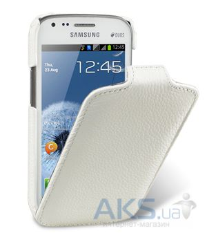 Чехол Melkco Jacka leather case for Samsung S7562 Galaxy S DuoS White (SS7562LCJT1WELC)