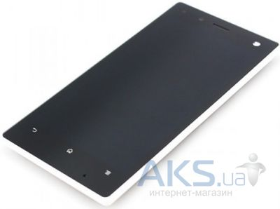 Дисплей (экраны) для телефона Sony Xperia acro S LT26W + Touchscreen with frame Original White