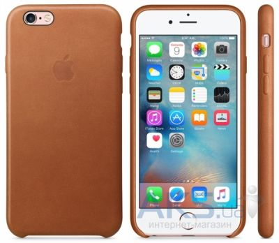 Чехол Apple Leather Case for iPhone 6S Plus Saddle Brown (MKXC2)