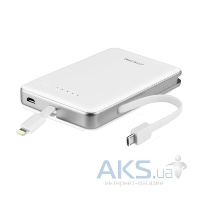 Повербанк power bank Macally MBP52L 5200mAh with Lightning connector for iPhone and iPod White