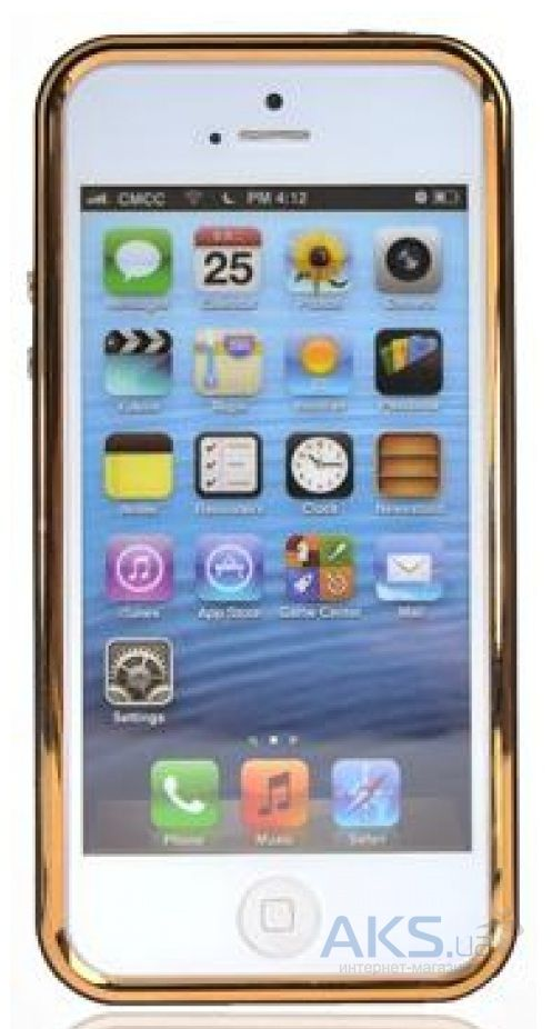 Чехол Uniico Chrome Bumper 3in1 Apple iPhone 5, iPhone 5S, iPhone SE Gold