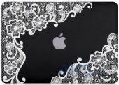 Вид 2 - Чехол Kuzy Lace Print Rubberized Case for MacBook Air 13 Black