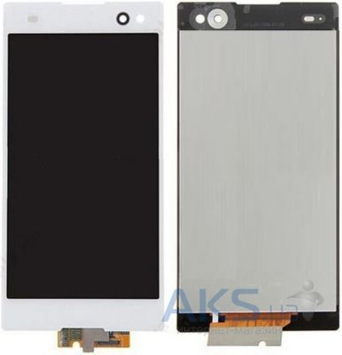 Дисплей (экран) для телефона Sony Xperia C3 Dual D2502 + Touchscreen with frame Original White