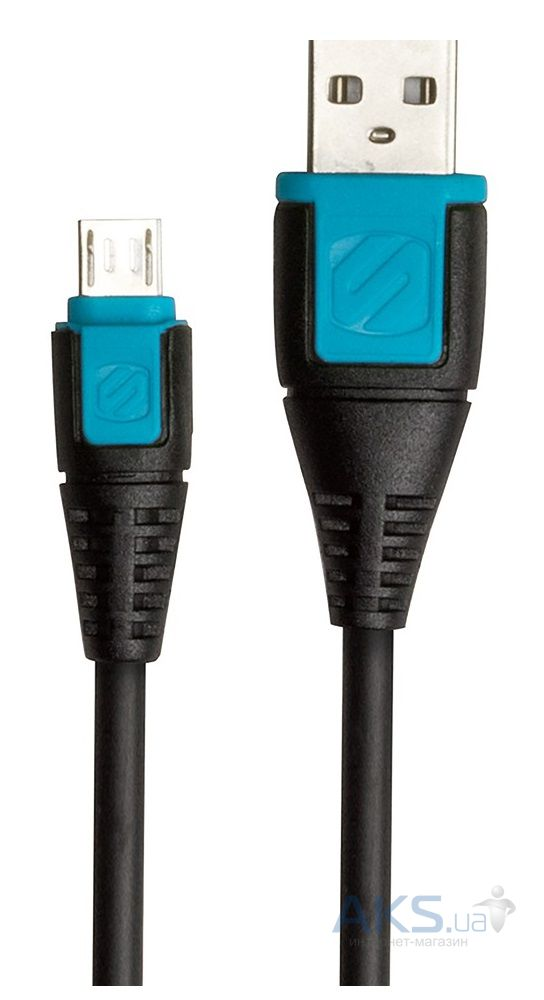 Кабель USB Scosche syncABLE™ Micro USB Cable Black / Blue (USBM3BL)