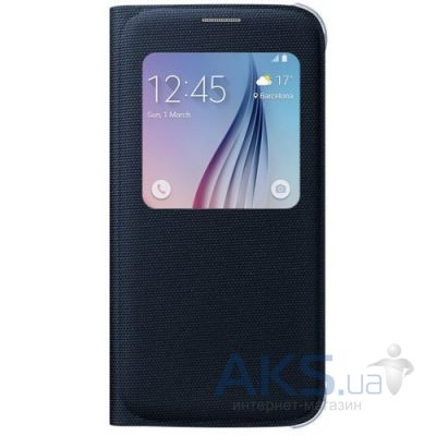 Чехол Samsung S View (Textile) для Galaxy S6 G920 Blue Black (EF-CG920BBEGRU)