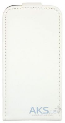 Чехол Leaf leather flip case for One M7 White