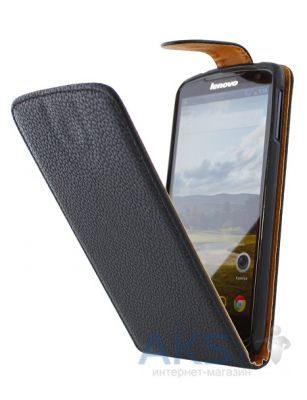 Чехол Flip Cover for Lenovo S820 Black