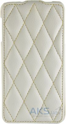 Чехол Carer Base Flip Leather Case for G900 Galaxy S5 White Grid