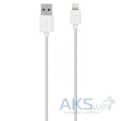 Кабель USB Belkin Lightning to USB ChargeSync Cable for iPhone 1.2m White (F8J023bt04-WThc)