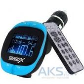 Автомобильный MP3-FM модулятор Grand-X CUFM25GRX blue SD/USB
