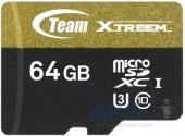 Карта памяти Team 64 GB microSDXC UHS-I U3 + SD Adapter TUSDX64GU303