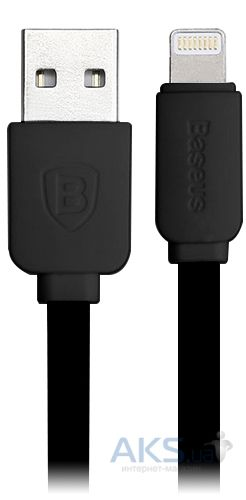Кабель USB Baseus Lightning String flat Black