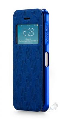 Чехол Momax Haute Couture case for iPhone 5/5S Blue [HVAPIP5SB]