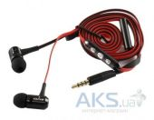 Наушники (гарнитура) AWEI 130vi with remote control Black/Red