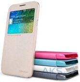Вид 2 - Чехол Nillkin Sparkle Leather Series Samsung E500 Galaxy E5 Gold