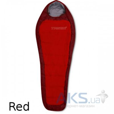 Спальный мешок Trimm IMPACT 195 L red / dark red (червоний)