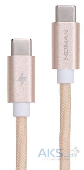Кабель USB Momax Elite Link Type-C to Type-C Gold (DTC1L)