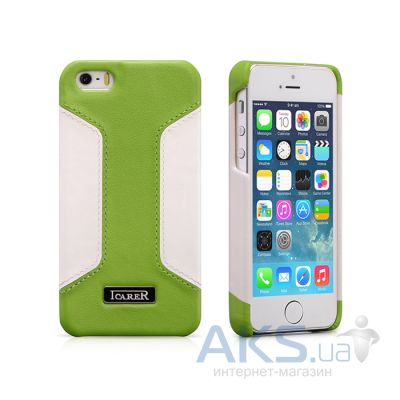 Чехол iCarer Colorblock Apple iPhone 5, iPhone 5S, iPhone SE Green/White