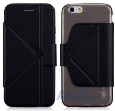 Чехол Momax The Core Smart Case for iPhone 6/6S Black (GCAPIP6D)