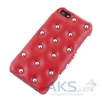 Чехол ION Factory Funky Punky Leather Case iPhone 5S/5 red (i1209- LRD042)
