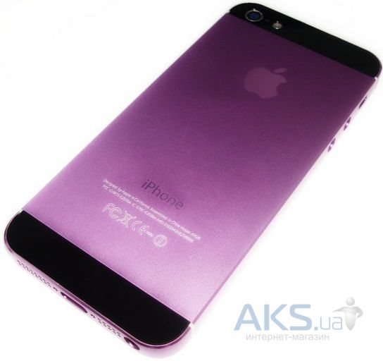 Корпус Apple iPhone 5 Exclusive Purple / Black