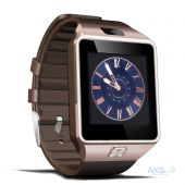Вид 4 - Умные часы UWatch Smart DZ09 Bronze with Brown strap