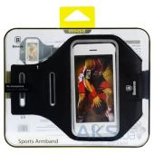 Вид 5 - Чехол Baseus Universal Sports Armband iPhone 6, iPhone 6S, Galaxy S6, Galaxy S7 Black (160x77x10mm) (AWBASEOBD-01)