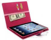 Вид 4 - Чехол для планшета Mercury Fancy Diary Series Apple iPad 2, iPad 3, iPad 4 Crimson - Pink
