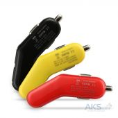 Зарядное устройство Baseus 2USB Car charger 2.4A Red (flyest series)