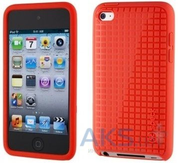 Чехoл Speck iPod Touch 4 PixelSkin HD Bright Red Core Packaging