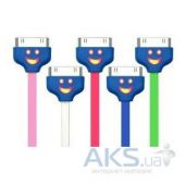 Вид 2 - Кабель USB Navsailor для Apple iPhone 4/4S (светящийся smile) (C-072).