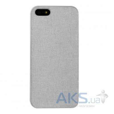 Чехол Ozaki O!coat-0.3+Canvas Apple iPhone 5, iPhone 5S, iPhone 5SE Grey (OC543GE)