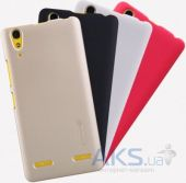 Вид 6 - Чехол Nillkin Super Frosted Shield Lenovo K3, Lenovo A6000, A6010, A6000+, A6010+ Gold