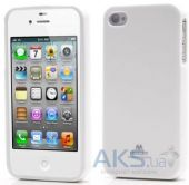 Чехол Mercury Jelly Color Series Apple iPhone 4, iPhone 4S White