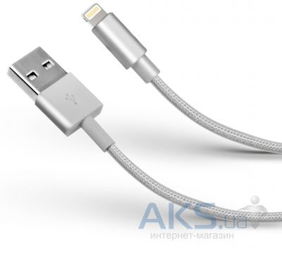 Кабель USB Usbest Lightning Cable in a Metal Braid White