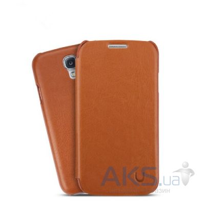 Чехол Usams Book case for Samsung i9500 Galaxy S4 Brown