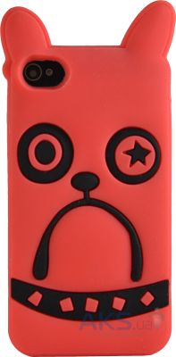 Чехол Marc Jacobs iphone 4 Soft Rubber Case Star Dog orange