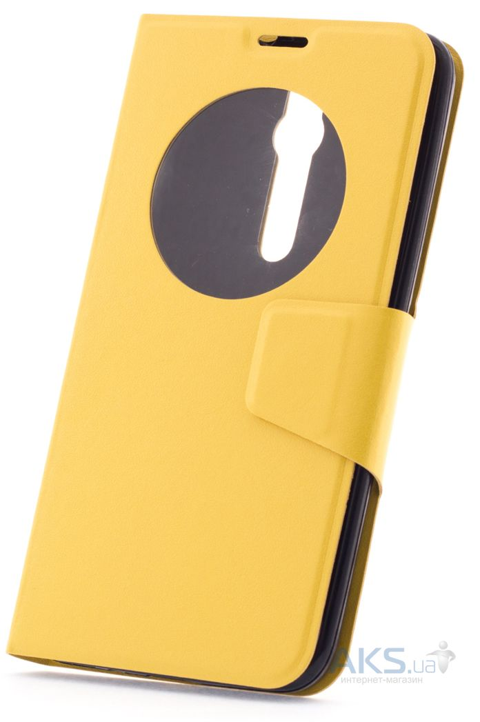 Чехол Book Cover TPU Asus Zenfone 2 ZE551ML, ZE550ML Yellow