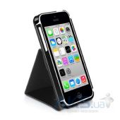 Вид 3 - Чехол Macally Flip Case W. Rotatable Stand For iPhone 5C Black (SSTANDP6-B)